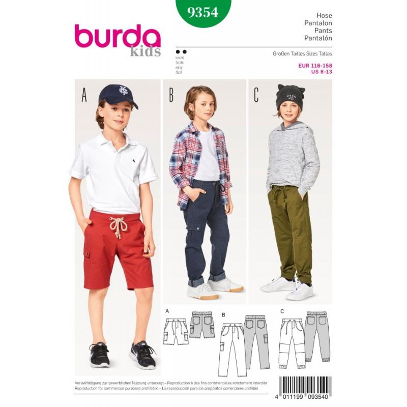 Střih Burda číslo 9354