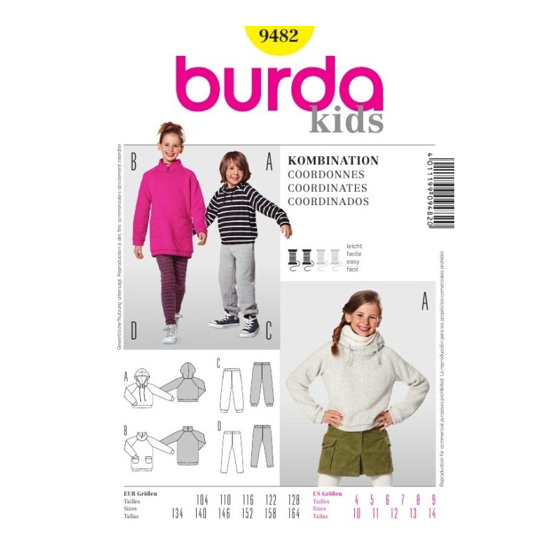 Střih Burda číslo 9482