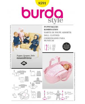 Střih Burda číslo 8591