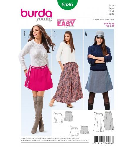 5b1a9dba3c8c Střih Burda číslo 6586 jednoduchá sukně