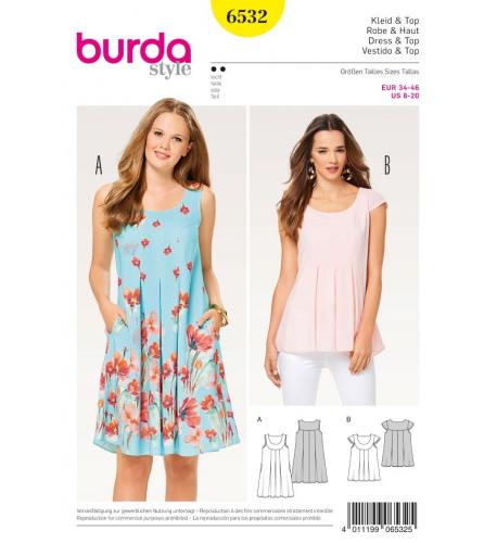 c30d20d88ffb Střih Burda číslo 6532 letní šaty