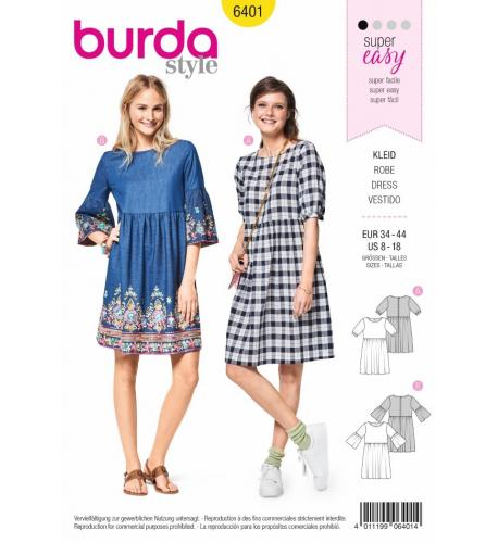 df047dcabec0 Střih Burda číslo 6401 letní šaty