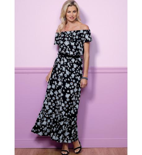 b503eeba8ee2 Střih Butterick 6451 letní šaty