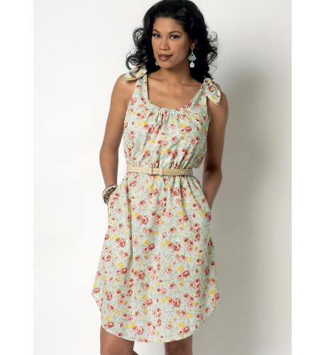 25f649757151 Střih Butterick 6205 jednoduché šaty